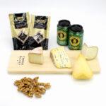 caja de quesos cremosos con cerveza