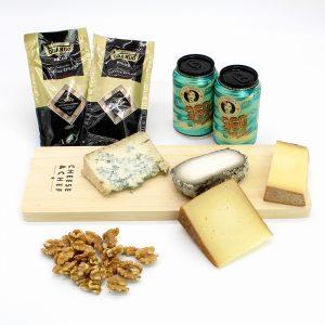 caja de quesos olorosos con cerveza